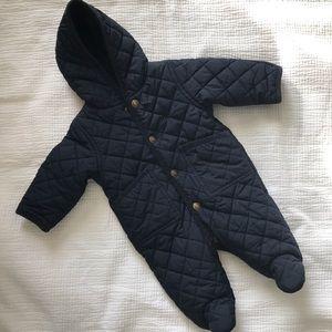 Ralph Lauren Navy Quilted Snowsuit Baby 3m